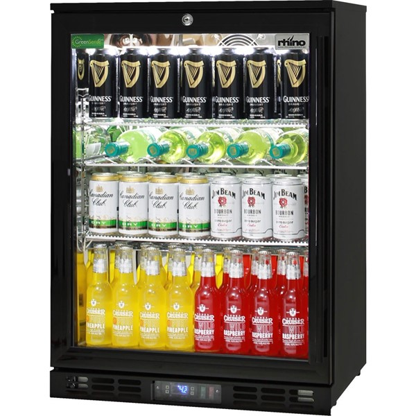 Black Commercial Glass 1 Door Bar Fridge Model Sg1l B
