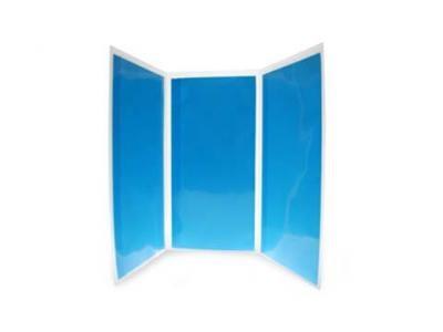 tri folder durable poly slimline