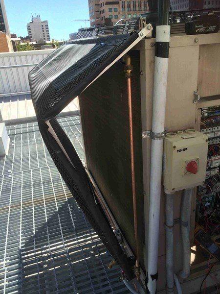 EcoMESH Pre-Cooling System for Air Conditioners