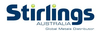 Stirling Australia Global Metals Distributor