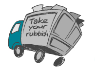 TAKE YOUR RUBBISH