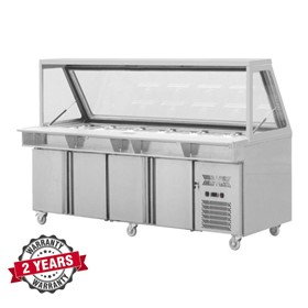 Salad Prep Refrigerated Counter Four Doors