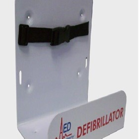 AED White Wall Bracket for Defibrillators