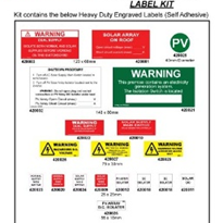 Kit of Engraved Solar Installation Labels | Cirlock
