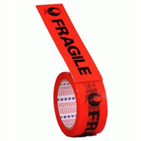 48mm x 66m Premium Fluro Orange Fragile Tape | 117014