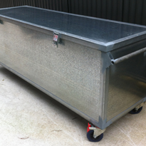 Galvanised Padlockable Mobile Storage Box | R.J. Cox