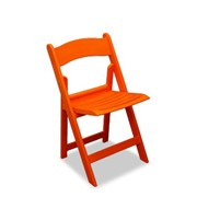 Orange Resin Outdoor Folding Chair | Nufurn Wimbledon