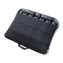 Black Quilted Fabric Seat Cushion | LTV®