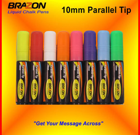 Liquid Chalk Marker with 10mm Parallel Tip | Brazon