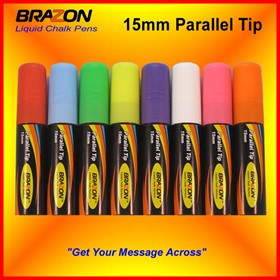 Liquid Chalk Markers with 15mm Parallel Tip | Brazon