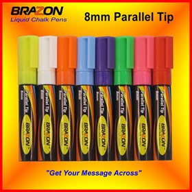 Liquid Chalk Markers with 8mm Parallel Tip | Brazon
