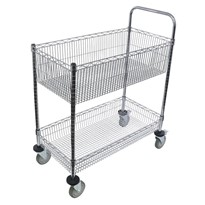 Wire Chrome Basket Trolley