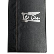 Menu Cover | A4 Black Faux Leather Cover