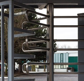 Rotech's Australian Made, high security, full height turnstile