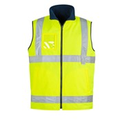 Mens Hi Vis Lightweight Fleece Lined Safety Vest