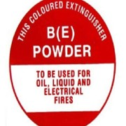 Identification Sign - BE Dry Powder