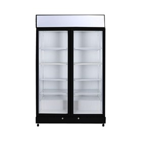 Flat Glass Door LED Upright Display Eco Chillers - GM1000LB