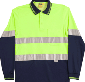 Safety Long Sleeve Polo | Winning Spirit Men's TrueDry®