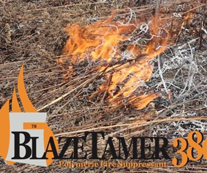 Firefighting suppressant BLAZETAMER380™ fights fires faster