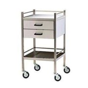 Stainless Steel 2-Drawer Vertical Trolley