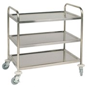 Vogue Stainless Steel 3-Tier Large Clearing Trolley