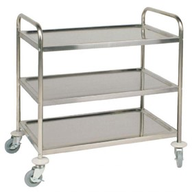Stainless Steel 3-Tier Large Clearing Trolley