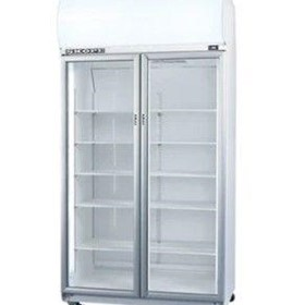 Double Glass Door Upright Chiller - Top Mount, White