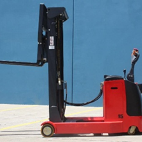 Enforcer Electric Walkie Reach Stacker: 2,000kg