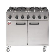 Range Cooker | Titan 6 Burner 900mm | Burco