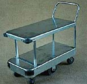 2 Tier Double Deck 6 Wheel Trolley | TS /080
