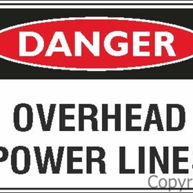 Danger Sign | Overhead Power Lines