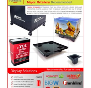 Floor Displays | Protective Base Displays | Dump Bins