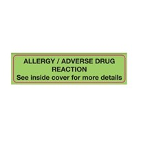 Adverse Drug Reaction Label | Allergy/Adverse Drug Reaction
