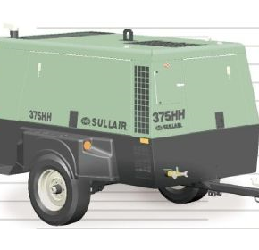 Portable Air Compressor | Sullair 375HH
