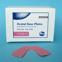 Dental Base Plates | Pink Lower - Pack of 100