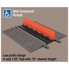 Low Profile Cable Protector | Guard Dog 3 Channel- ADA Compliant