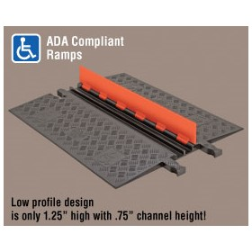 Low Profile Cable Protector | Guard Dog 2 Channel - ADA Compliant