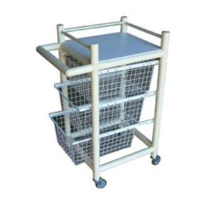 Medical Trolley | Poly Trolley 3 Basket