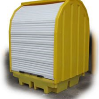 Roll Top Covered 4-Drum Spill Pallet | TSSBP4RT
