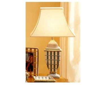 Premium Lamp | Blue Stripe with Shade