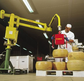 Industrial pneumatic lifter for food