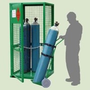 9 Cylinder Gas Storage with Base & Gas Cylinder Trolley | AGC01-T