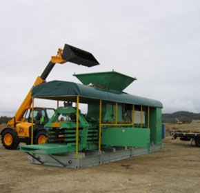 Mobile Urban Waste Baler | GODSWILL GB1108 F Self Powered Mobile Baler
