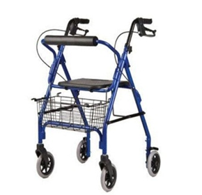 Walking Aids | Deluxe Walker With Hand Brakes and Seat