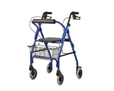 Deluxe Walker With Hand Brakes and Seat