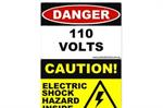 Electrical Safety Stickers & Signage