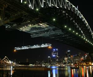 A number of moveable gantries located beneath the road and rail deck of the Sydney Harbour Bridge were recently upgraded, using a complete drive solutions package from SEW-EURODRIVE.