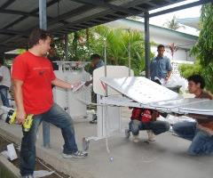 Installation of the beds at an Overseas Hospital