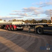 32 Pallet Flat Top Trailer with Container Pins | Maxitrans