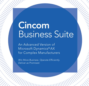 Cincom Manufacturing Business Suite | Advanced ERP